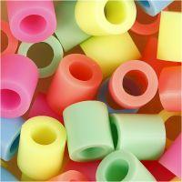 Bügelperlen, Größe 10x10 mm, Lochgröße 5,5 mm, JUMBO, Pastellfarben, 550 sort./ 1 Pck