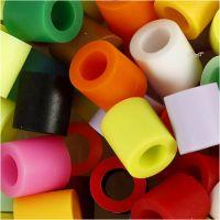 Bügelperlen, Größe 10x10 mm, Lochgröße 5,5 mm, JUMBO, Zusätzliche Farben, 3200 sort./ 1 Pck