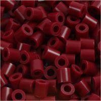 Fotoperlen, Größe 5x5 mm, Lochgröße 2,5 mm, Weinrot (4), 6000 Stk/ 1 Pck