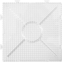 Steckplatte, Größe 15x15 cm, Transparent, 2 Stk/ 1 Pck