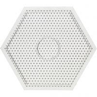 Steckplatte, Größe 15x15 cm, Transparent, 1 Stk