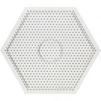 Steckbrett, Großes Sechseck, Größe 15x15 cm, 10 Stk/ 1 Pck