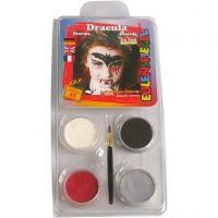 Eulenspiegel Gesichtsschminke - Motivset, Dracula, Sortierte Farben, 1 Set