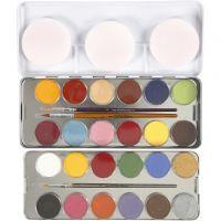 Eulenspiegel Gesichtsschminke, Sortierte Farben, 24 Farbe/ 1 Set