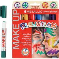 Playcolor Make up, Metallic, Sortierte Farben, 6x5 g/ 1 Pck