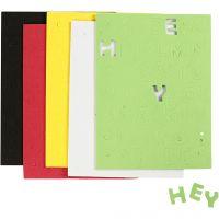 Moosgummi-Buchstaben & Zahlen, Größe 2-2,3 cm, Sortierte Farben, 5 Bl./ 1 Pck