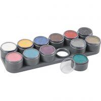 Grimas Gesichtsschminke auf Farbpalette, Sortierte Farben, 12x15 ml/ 1 Stk