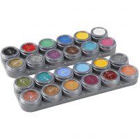 Grimas Gesichtsschminke auf Farbpalette, Sortierte Farben, 24x2,5 ml/ 1 Stk