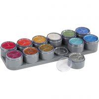 Grimas Gesichtsschminke auf Farbpalette, Perlmuttfarben, 12x15 ml/ 1 Stk