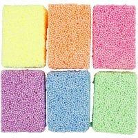Soft Foam, Neonfarben, 6x10 g/ 1 Pck