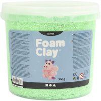 Foam Clay® , Glitter, Grün, 560 g/ 1 Eimer