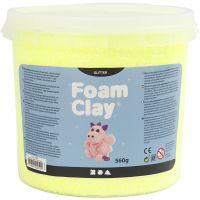 Foam Clay® , Glitter, Gelb, 560 g/ 1 Eimer