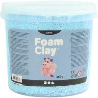 Foam Clay® , Glitter, Hellblau, 560 g/ 1 Eimer