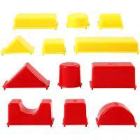 Sandförmchen, Geometrische Formen, Größe 3,5-9,5 cm, 12 Stk/ 1 Pck