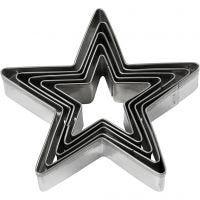 Ausstechförmchen, Stern, Größe 8 cm, 5 Stk/ 1 Pck