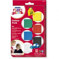 FIMO® Kids Clay, Standard-Farben, 6x42 g/ 1 Pck