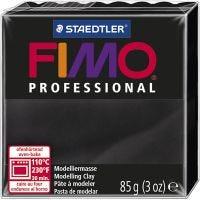 FIMO® Professional Jewellery Clay, Schwarz, 85 g/ 1 Pck