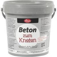 Beton-Modelliermasse, Grau, 1500 g/ 1 Pck