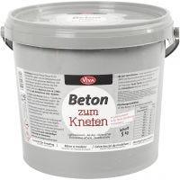 Beton-Modelliermasse, Grau, 5000 g/ 1 Pck