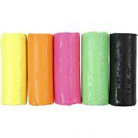 Soft Clay Knetmasse, H: 9,5 cm, Neonfarben, 400 g/ 1 Eimer