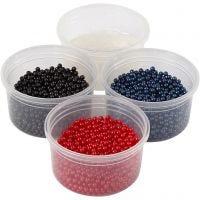 Pearl Clay® , Schwarz, Blau, Rot, 1 Set, 3x25+38 g