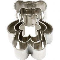 Ausstechformen , Teddybär, Größe 35x40 mm, 3 Stk/ 1 Pck