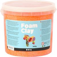 Foam Clay® , Neonorange, 560 g/ 1 Eimer