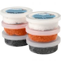 Foam Clay® , Schwarz, Orange, Weiß, 6x14 g/ 1 Pck