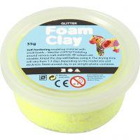 Foam Clay® , Glitter, Gelb, 35 g/ 1 Dose