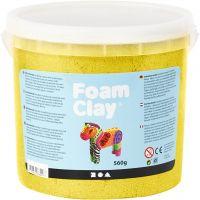 Foam Clay® , Metallic, Gelb, 560 g/ 1 Eimer