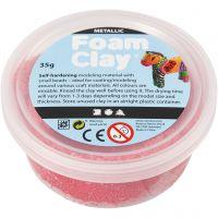 Foam Clay® , Metallic, Rot, 35 g/ 1 Dose