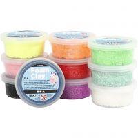 Foam Clay® , Glitter, Sortierte Farben, 10x35 g/ 1 Pck