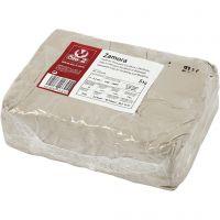 Steinzeug-Ton, Naturweiß, 5 kg/ 1 Pck