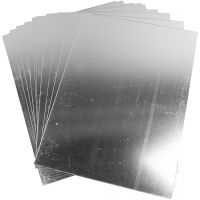 Spiegelfolie aus Plastik, 29,5x21 cm, Dicke 1,1 mm, 10 Bl./ 1 Pck