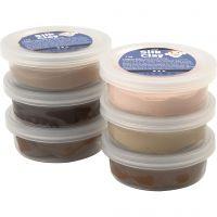 Silk Clay®, Hautfarben, 6x14 g/ 1 Pck