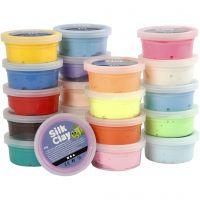 Silk Clay®, Sortierte Farben, 20x40 g/ 1 Pck