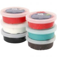 Silk Clay®, Weihnachtsfarben, 6x14 g/ 1 Pck