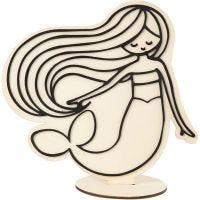 Deko-Figur, Meerjungfrau, H: 18 cm, 1 Stk