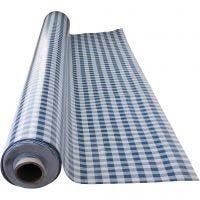Wachstuch-Tischdecke, blau-weiß kariert, Größe 140 cm, 1 lfm