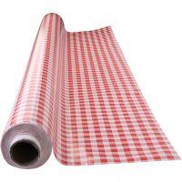 Wachstuch-Tischdecke, rot-weiß kariert, Größe 140 cm, 1 lfm