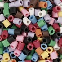 Nabbi Bio-Röhrchenperlen, Größe 5x5 mm, medium, Sortierte Farben, 3000 Stk/ 1 Pck