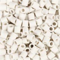 Nabbi Bio-Röhrchenperlen, Größe 5x5 mm, medium, Weiß, 3000 Stk/ 1 Pck