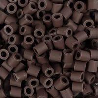 Nabbi Bio-Röhrchenperlen, Größe 5x5 mm, medium, Braun, 3000 Stk/ 1 Pck