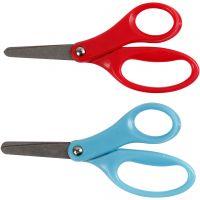 Kinderschere, L: 13 cm, für Rechtshänder , Blau, Rot, 12 Stk/ 1 Pck