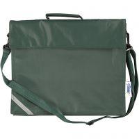 Schultasche, Tiefe 6 cm, Größe 36x31 cm, Grün, 1 Stk