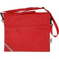 Schultasche, Tiefe 6 cm, Größe 36x31 cm, Rot, 1 Stk
