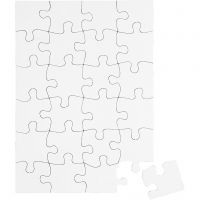 Blanco-Puzzle, Größe 15x21 cm, Weiß, 16 Stk/ 1 Pck