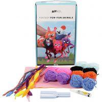 Pompon-Tiere, 1 Set