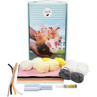 Oster-Tiere aus Pompons, 1 Set/ 1 Schachtel