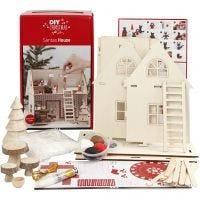 Materialset Weihnachtsmann-Haus, 1 Set
